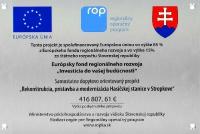 Kovová tabuľka pre EÚ projekt
